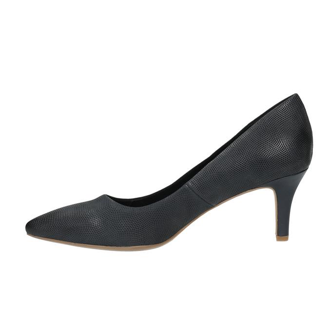 Mid-heel pumps bata, black , 626-9601 - 26