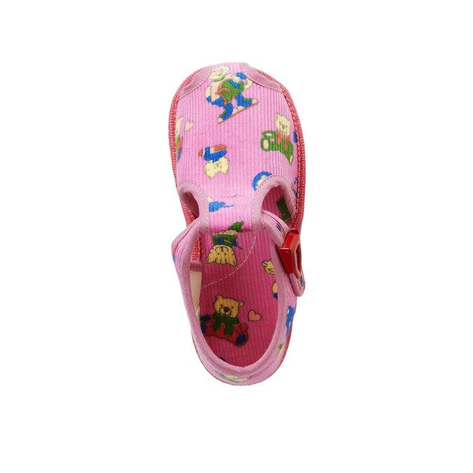 Children's home slippers bata, pink , 179-5210 - 19