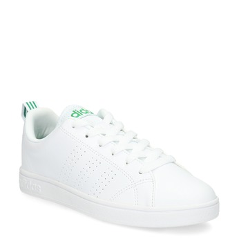 White sneakers with green details adidas, white , 501-1300 - 13