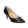 Ladies' leather pumps bata, black , 624-6630 - 13