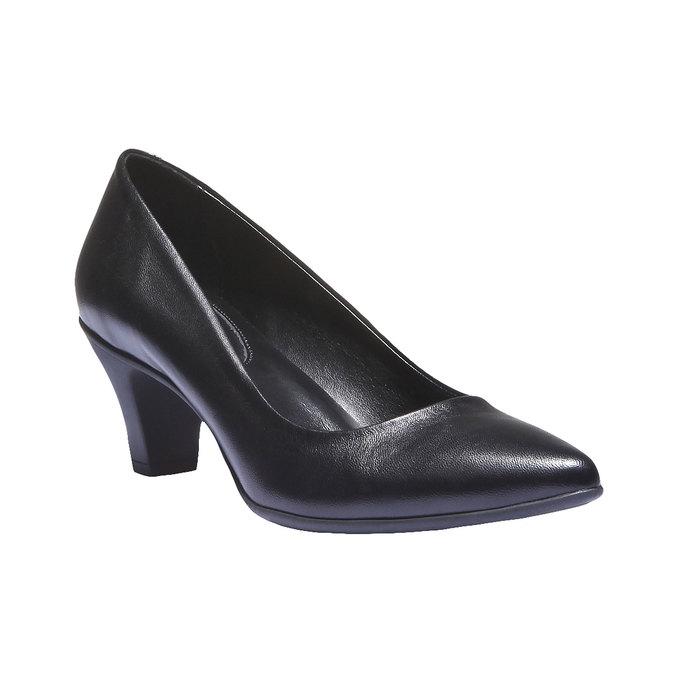 Leather Pumps flexible, black , 624-6221 - 13