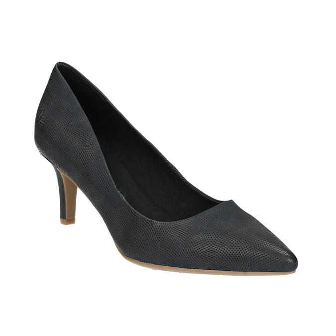 Mid-heel pumps bata, black , 626-9601 - 13