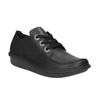 Casual leather low shoes clarks, black , 624-6004 - 13