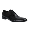 Leather shoes with a pattern conhpol, black , 826-6730 - 13