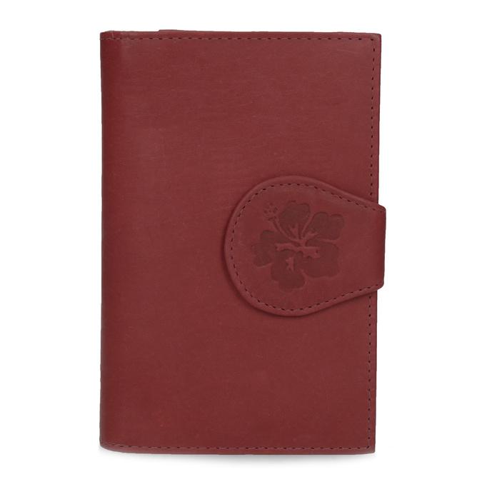 Ladies' leather purse bata, red , 944-5155 - 26