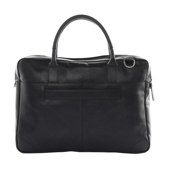 Leather bag with strap royal-republiq, black , 964-6199 - 15
