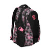 Girls´ school backpack with printed pattern bagmaster, black , 969-5615 - 13