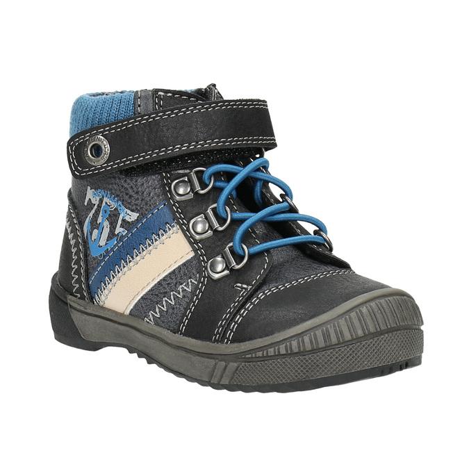 Children's ankle shoes bubblegummer, black , 111-6610 - 13