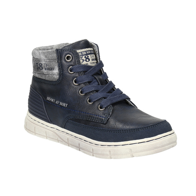 Boys´ ankle-cut sneakers mini-b, blue , 391-9600 - 13