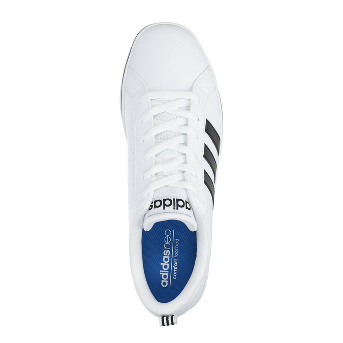 Men's white sneakers adidas, white , 801-1188 - 19