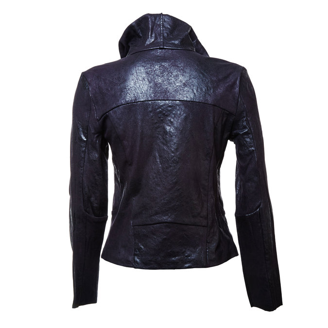Ladies' casual jacket with collar bata, black , 979-6635 - 26