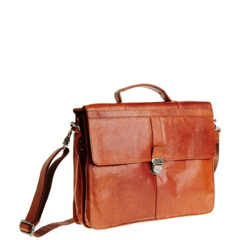 Leather briefcase bata, brown , 964-3138 - 13