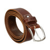 Men's belt with quilting bata, brown , 954-4147 - 13