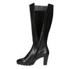 Ladies' leather heeled high boots hogl, black , 794-6009 - 19