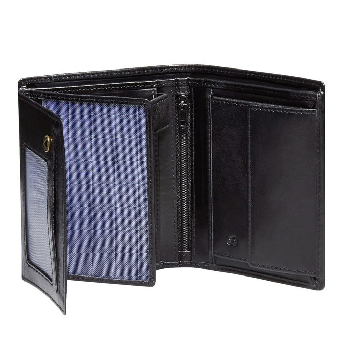 Men's leather wallet, black , 944-6121 - 15