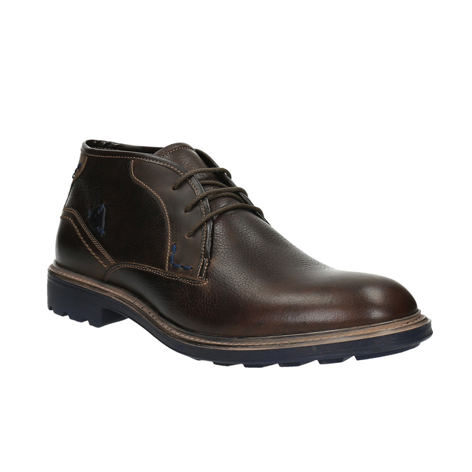 Leather Chukka Boots bata, brown , 824-4701 - 13