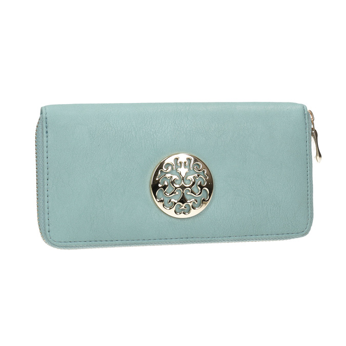 Purse with metal features bata, turquoise, 941-9150 - 13