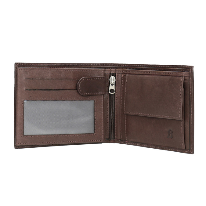 Men's leather wallet bata, brown , 944-4171 - 15