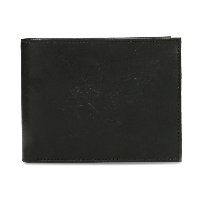 Men's leather wallet bata, black , 944-6171 - 26