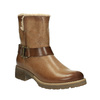 Leather winter boots with fur bata, brown , 594-4609 - 13