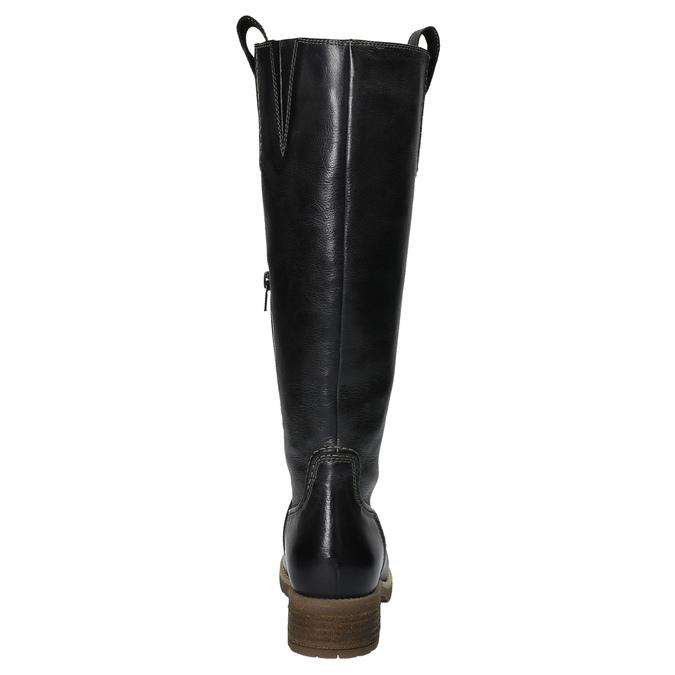 Leather Cossacks on a massive sole bata, black , 594-6613 - 17