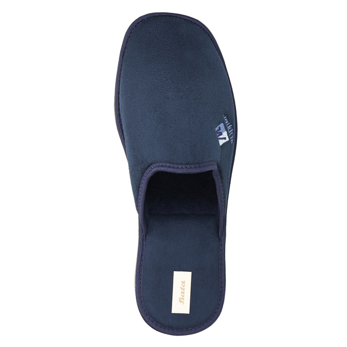 Men's slippers with full toe bata, blue , 879-9605 - 19