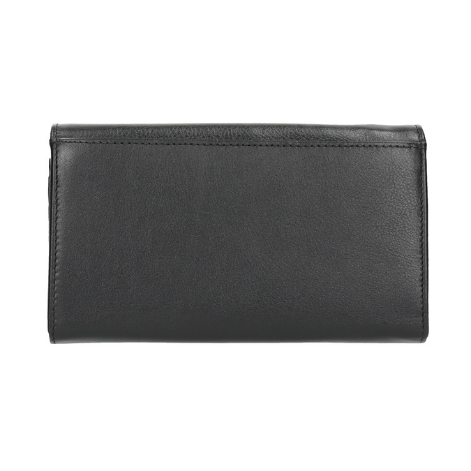 Ladies' leather purse bata, black , 944-6357 - 19
