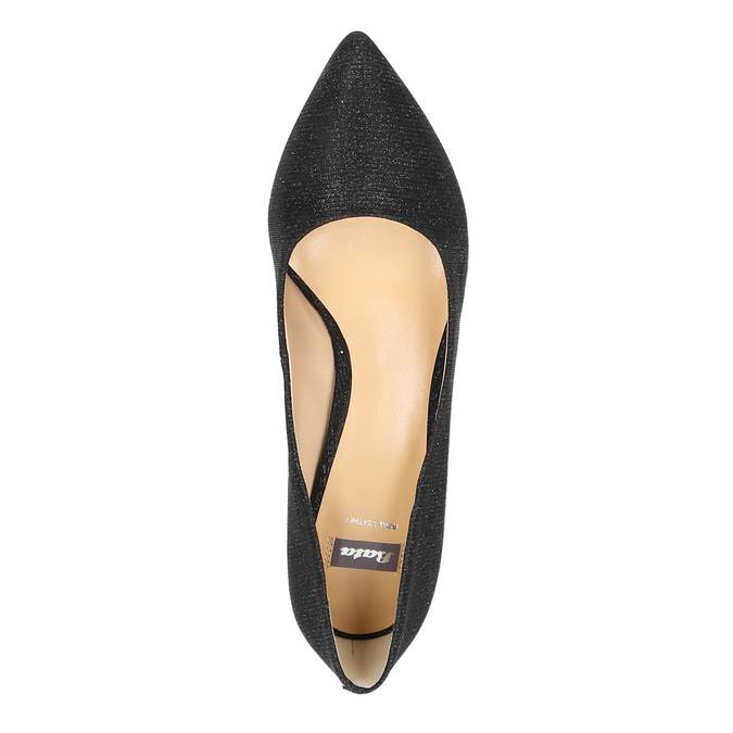 Elegant low-heeled pumps bata, black , 629-6631 - 19