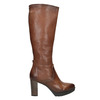 Ladies' leather heeled high boots bata, brown , 796-4643 - 15