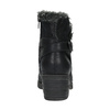 Ankle-cut shoes with fur bata, black , 699-6632 - 17