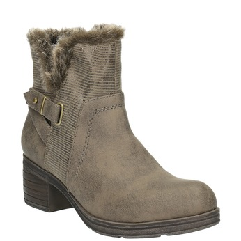 Ladies´ ankle-cut Cossacks bata, gray , 699-2632 - 13