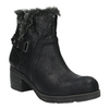Ankle-cut shoes with fur bata, black , 699-6632 - 13