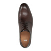 Brown leather shoes bata, brown , 824-4754 - 19
