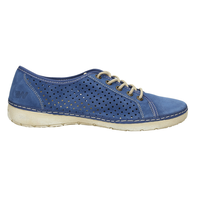 Leather sneakers weinbrenner, blue , 546-9238 - 15