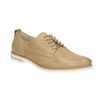 Ladies' casual leather shoes bata, beige , 526-3626 - 13