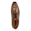 Brown leather shoes with embellishments conhpol, brown , 826-3837 - 19