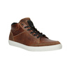 Leather ankle sneakers bata, brown , 844-3631 - 13