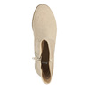 Ladies' high ankle boots bata, beige , 599-8614 - 19