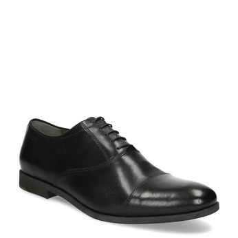 Black leather Oxford shoes vagabond, black , 824-6048 - 13