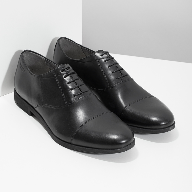 Black leather Oxford shoes vagabond, black , 824-6048 - 26