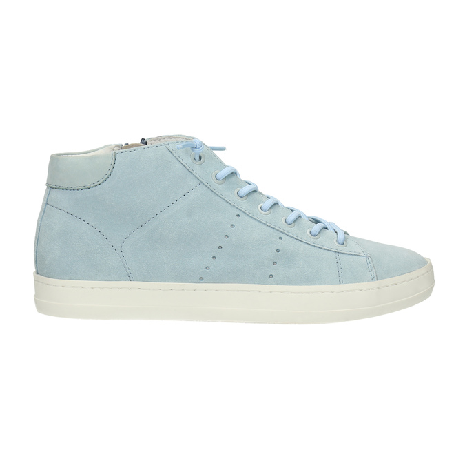 Ladies´ leather ankle-cut sneakers bata, blue , 523-9602 - 15