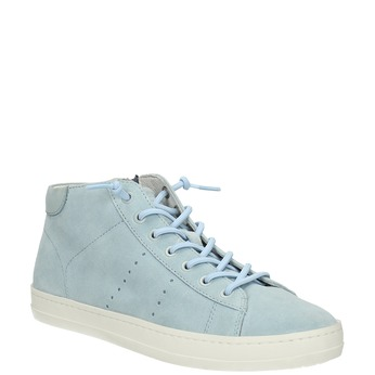 Ladies´ leather ankle-cut sneakers bata, blue , 523-9602 - 13