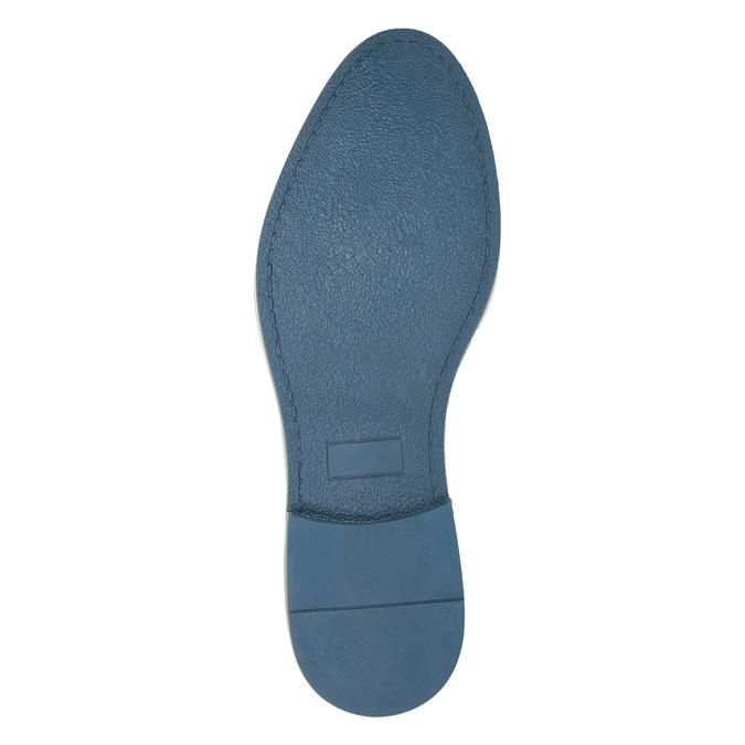 Men's black leather shoes bata, blue , 826-6793 - 26