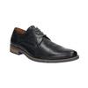 Men's black leather shoes bata, blue , 826-6793 - 13