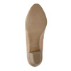 Leather low-heeled pumps pillow-padding, beige , 626-8637 - 26