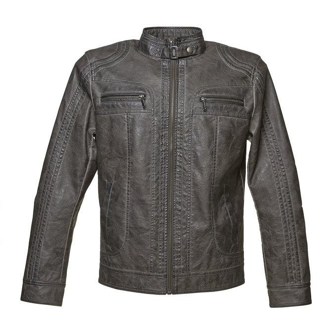Men's quilted jacket bata, brown , 971-2194 - 13