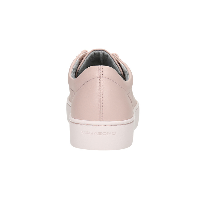 Pink leather sneakers vagabond, pink , 624-8019 - 17