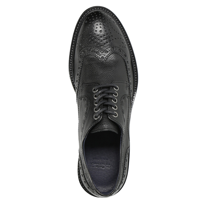 Men's leather shoes, black , 824-6292 - 19