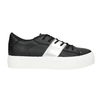 Black sneakers with silver stripe north-star, black , 521-6605 - 15