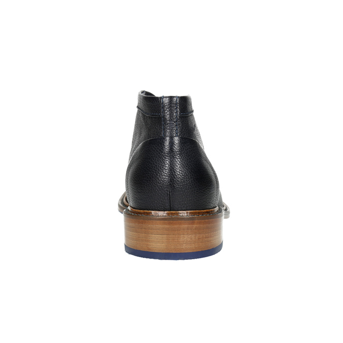 100% leather ankle boots bata, blue , 826-9909 - 17